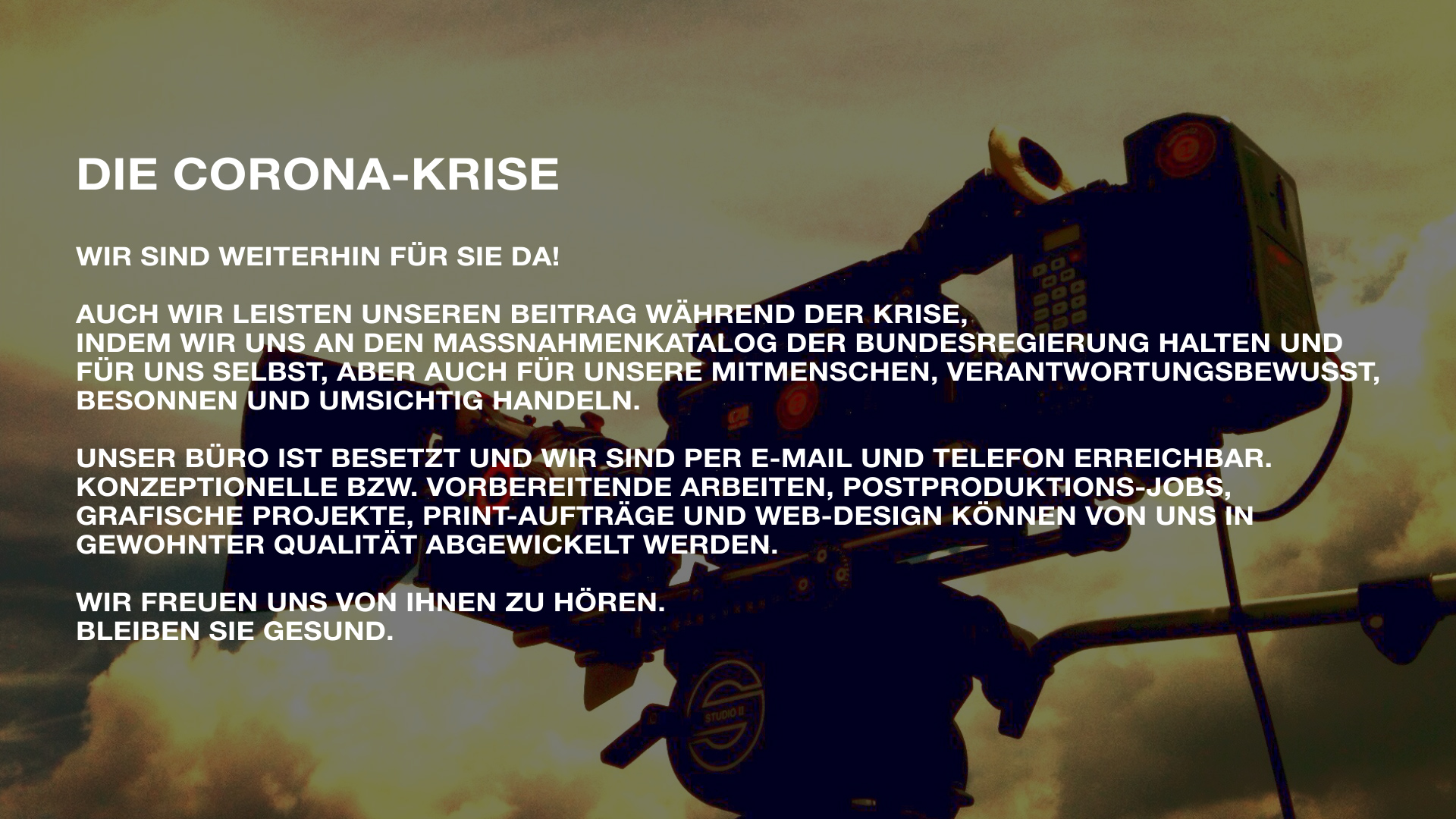 Corona Krise Poster. 3jpg - Strickroth & Fiege Fotografie