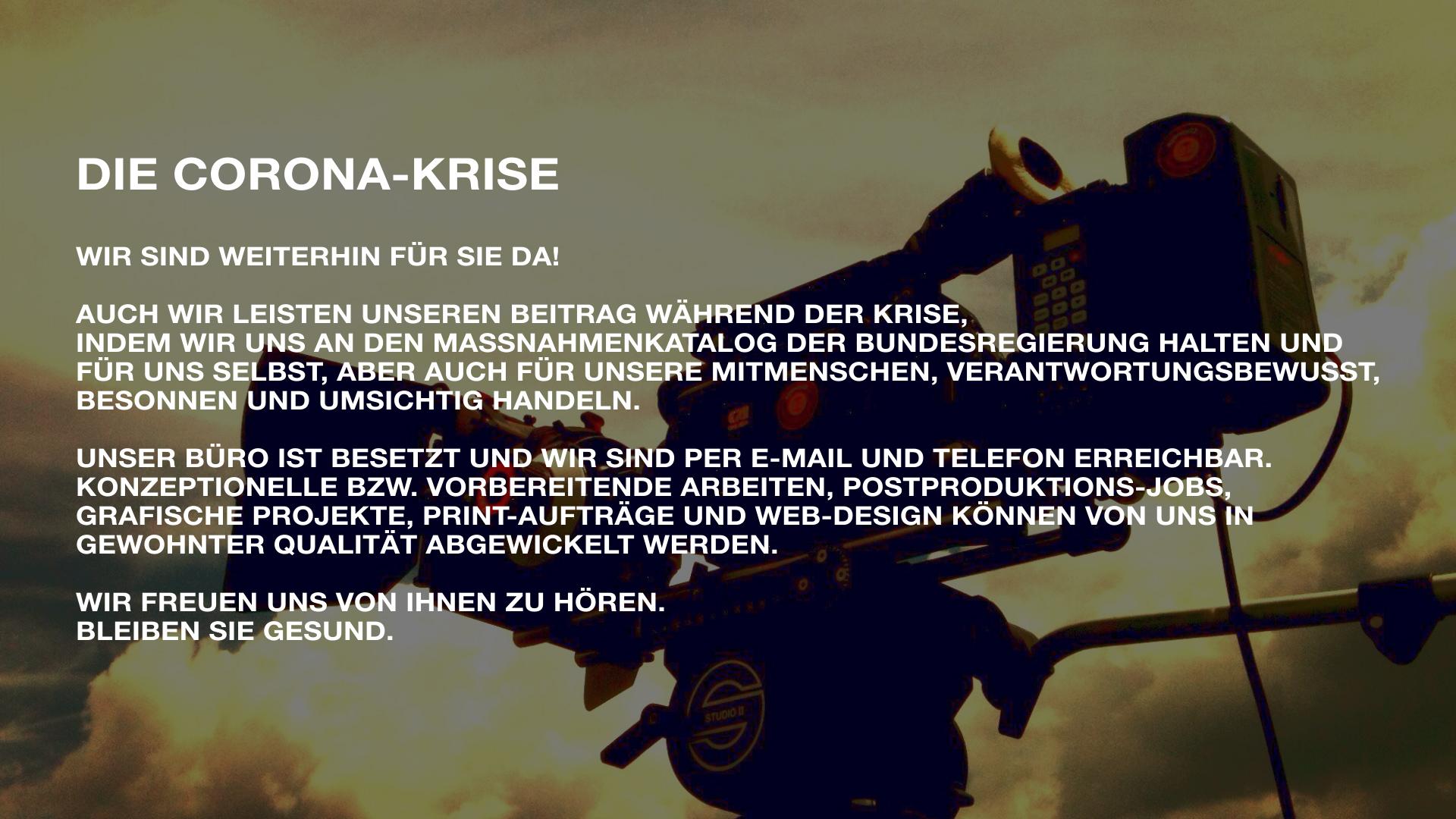 Corona Krise Poster - Strickroth & Fiege Fotografie